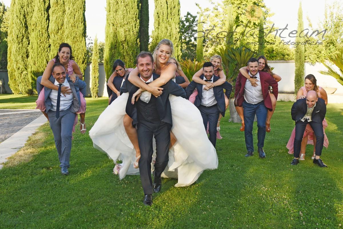 Festa matrimonio ricevimento all'aperto