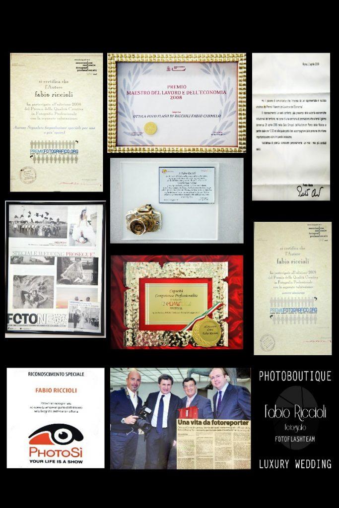 Fotoflashteam Fabio Riccioli premi riconoscimenti attestati