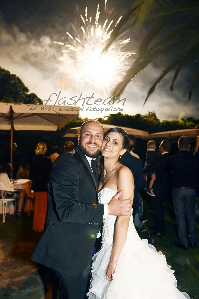 Sposi foto effetto fuochi artificio