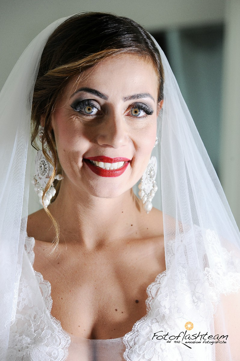 primo piano foto sposa