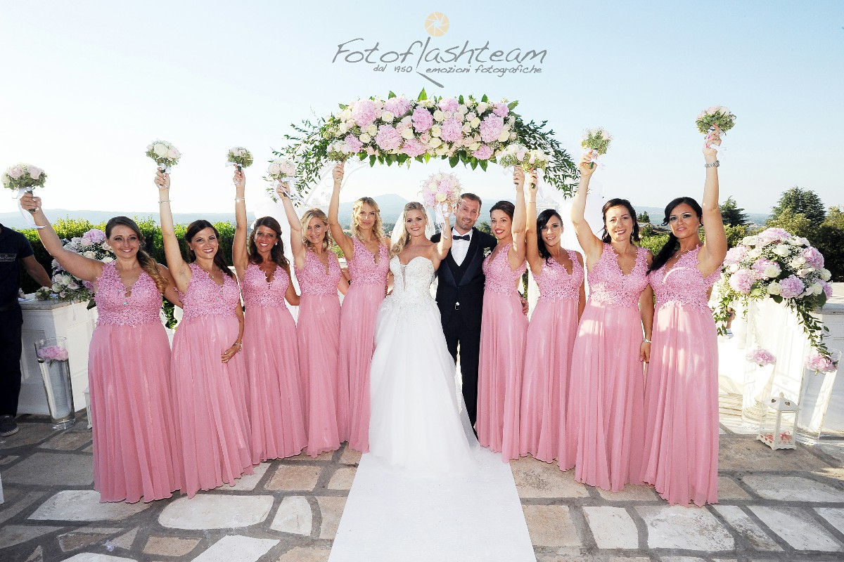 sposi damigelle matrimonio fotografo roma Fabio Riccioli