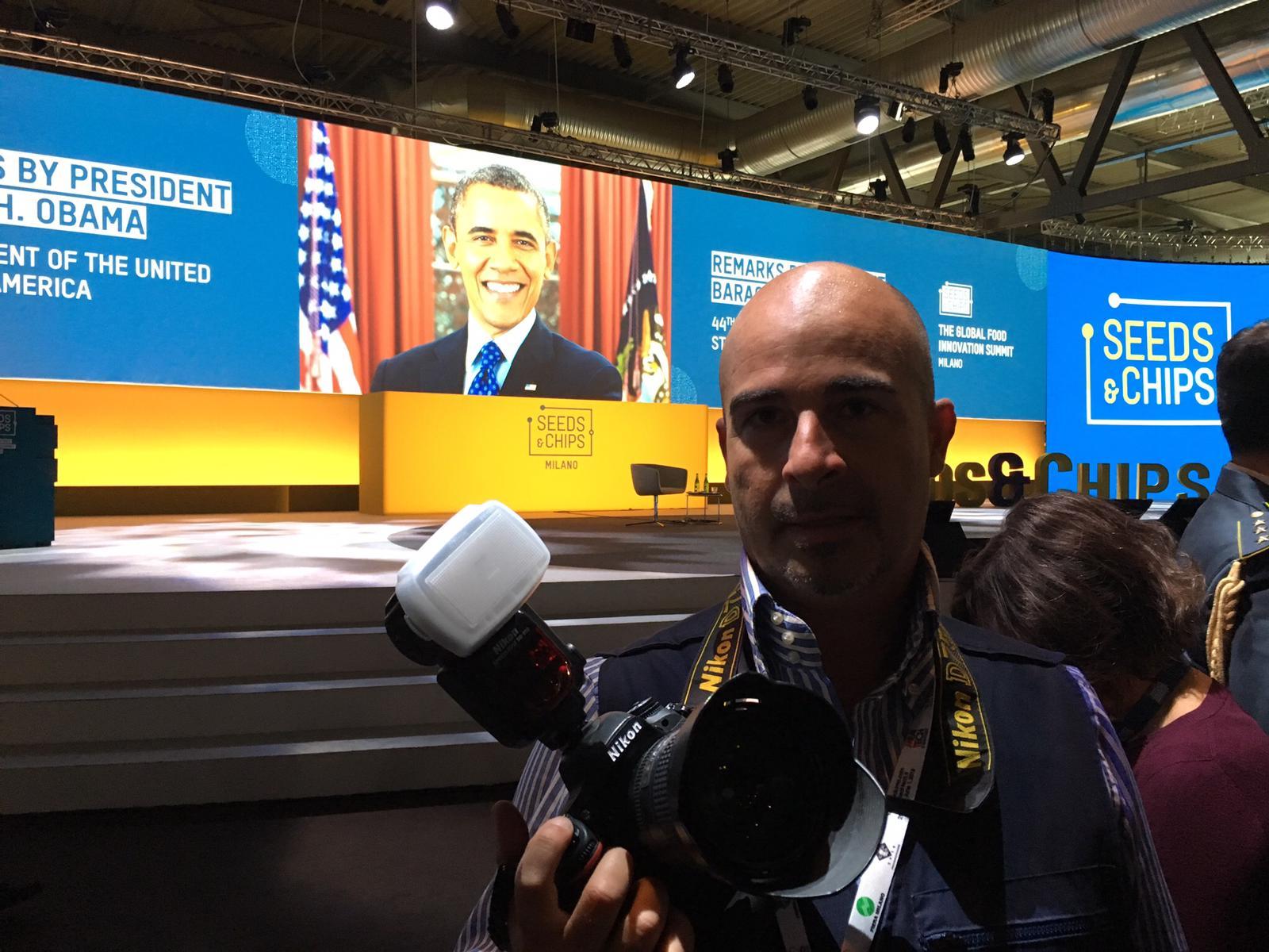 Barak Obama convegno fotoreporter politici vip Fabio Riccioli fotografo Roma