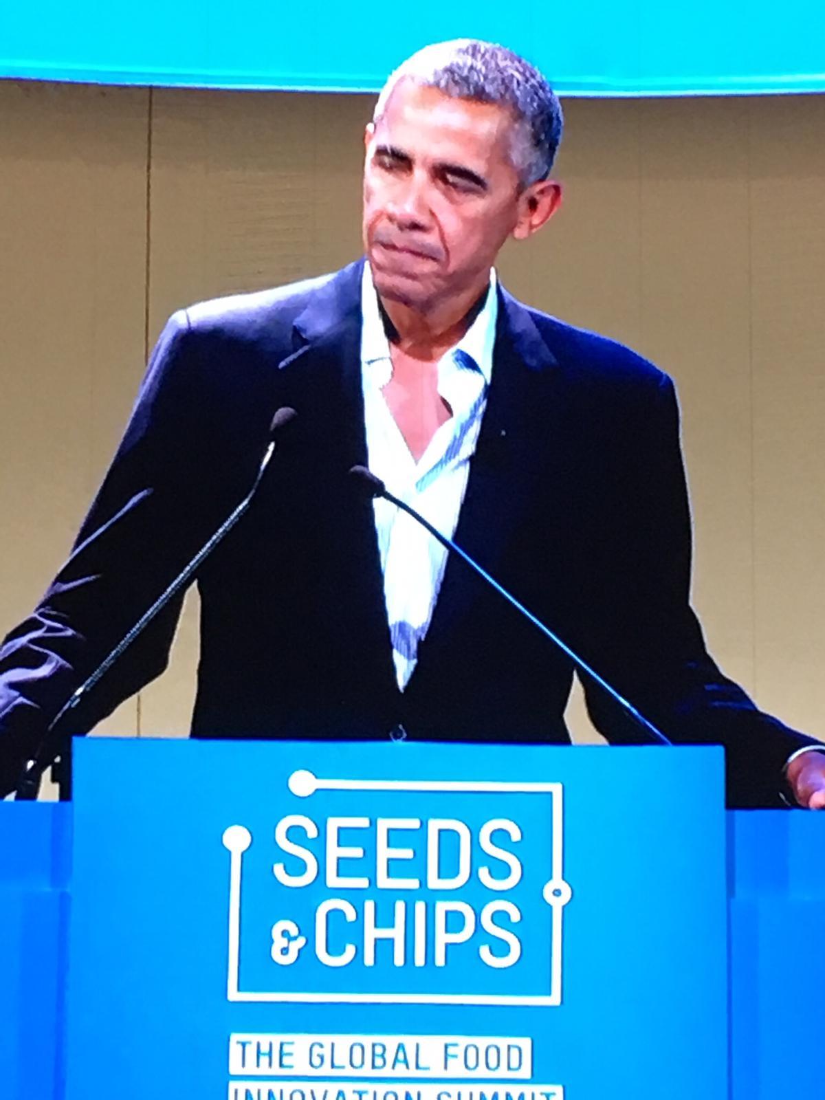 Barak Obama sul palco convegno fotoreporter politici vip Fabio Riccioli fotografo Roma.