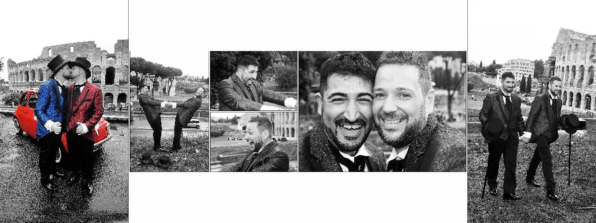 Foto Colosseo sposi Unione Civile Fotografo matrimonio gay Roma