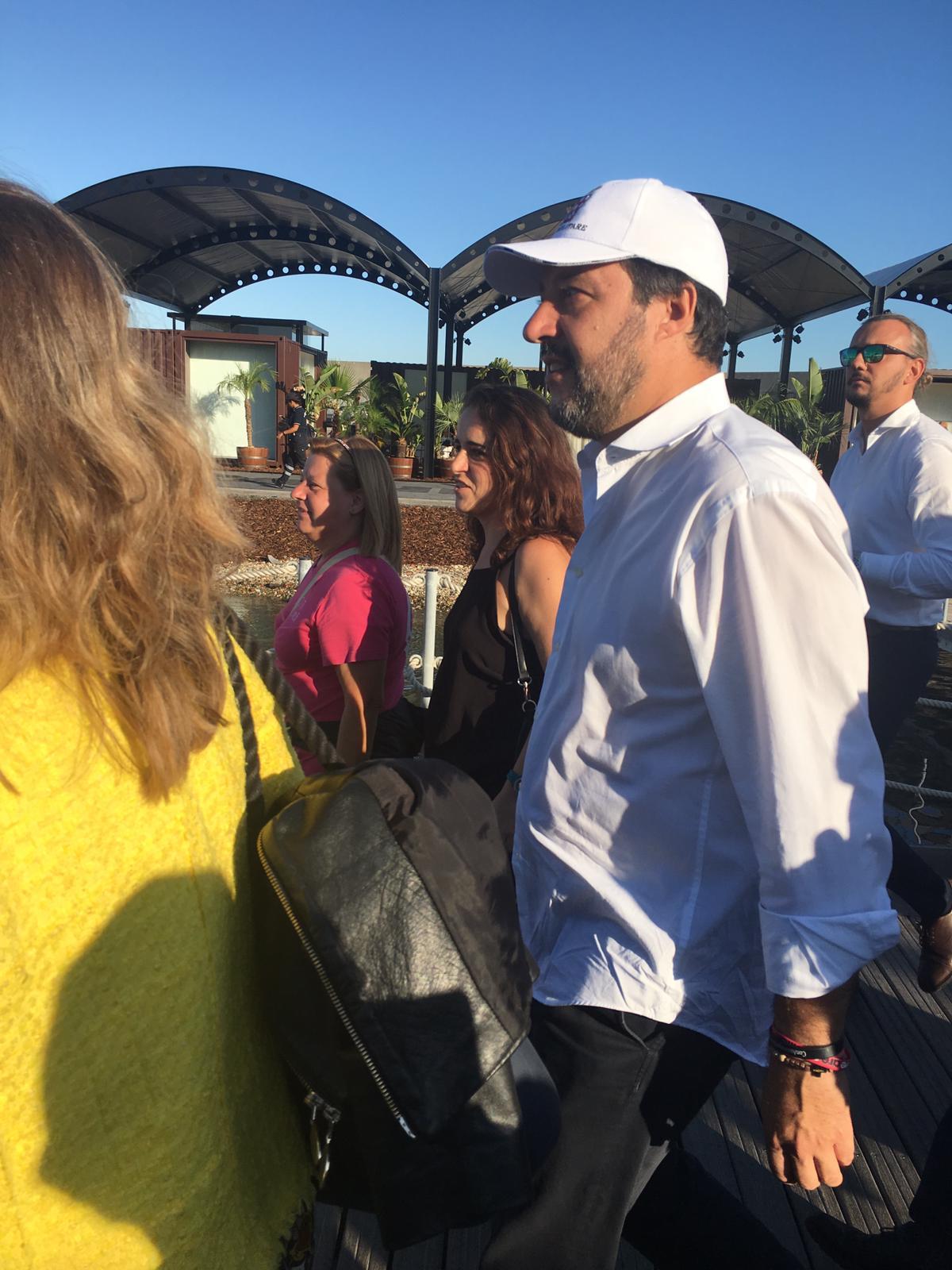 Matteo Salvini al Salone nautico Genova 2019 Fotoflashteam reporter