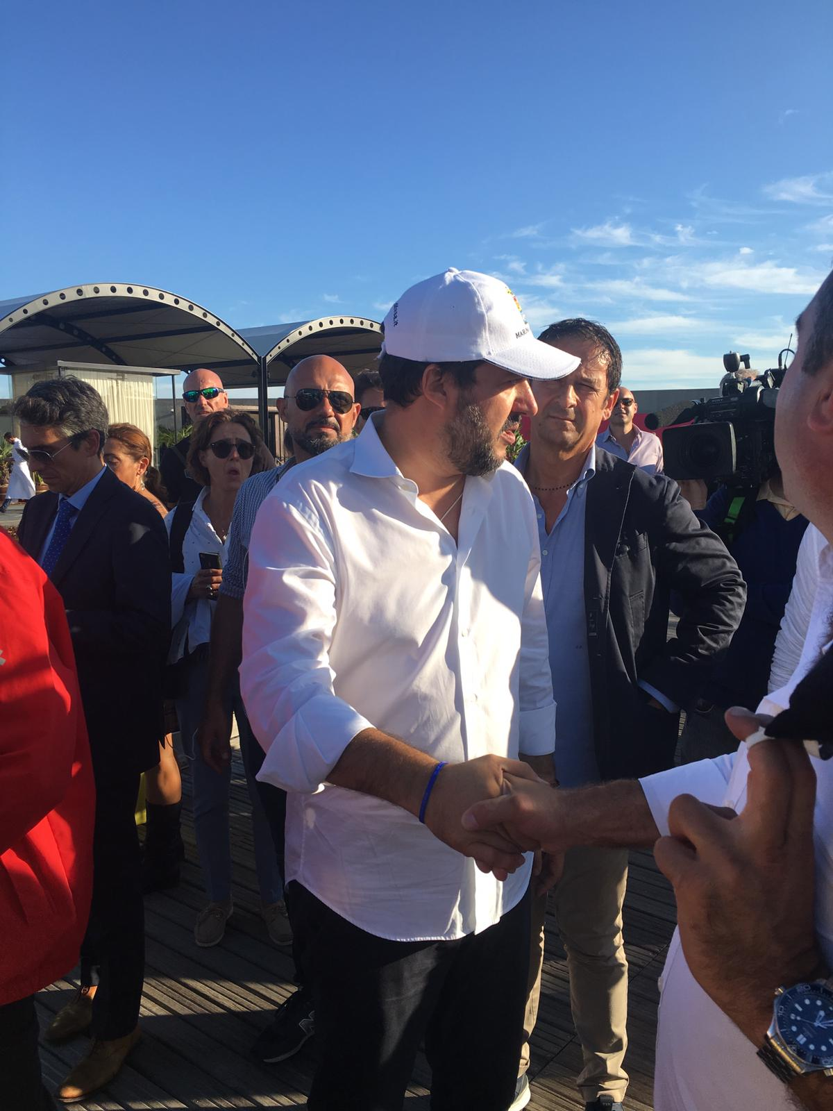 Matteo Salvini visita Salone nautico Genova 2019 Fotoflashteam reporter