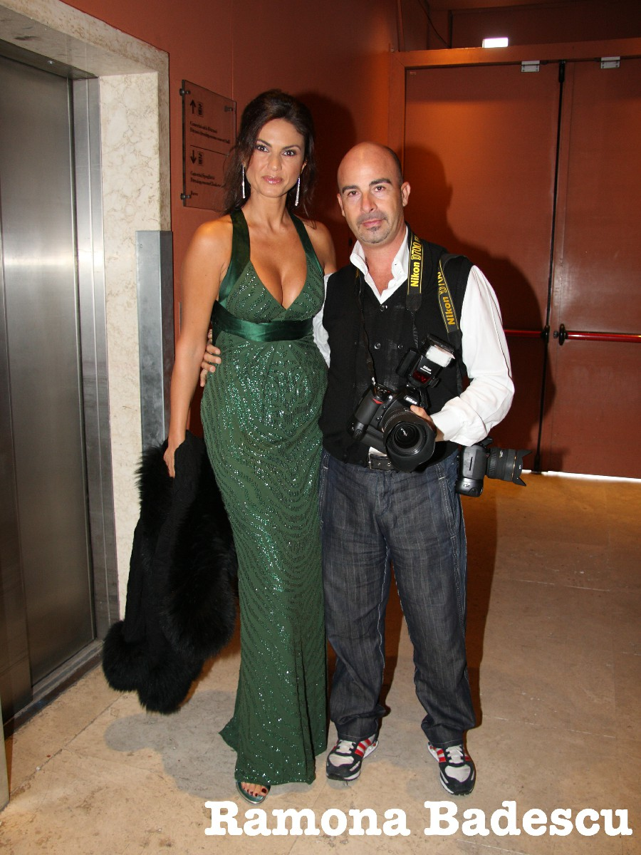 Ramona Badescu Fabio Riccioli fotografo vip spettacolo Roma