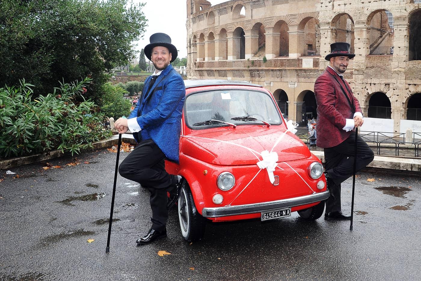 Foto Sposi Colosseo location più belle unioni civili Fotografo matrimonio gay Roma Fotoflashteam