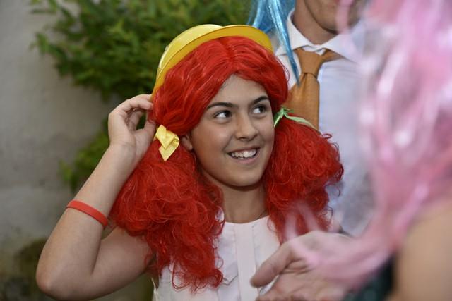 Foto divertente con parrucca Photo Booth Matrimonio Roma ricevimento Fotoflashteam