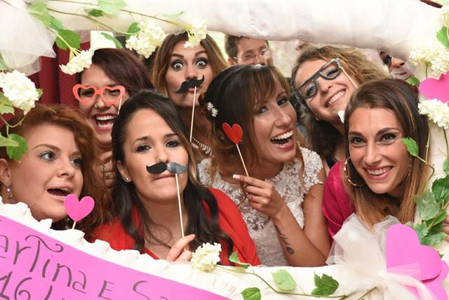 Photo Booth festa Matrimonio Roma realizzazione foto cornice Fotoflashteam
