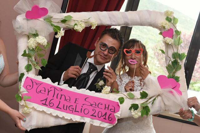 Photo Booth ricevimento Matrimonio Roma ideazione foto cornice sposi Fotoflashteam