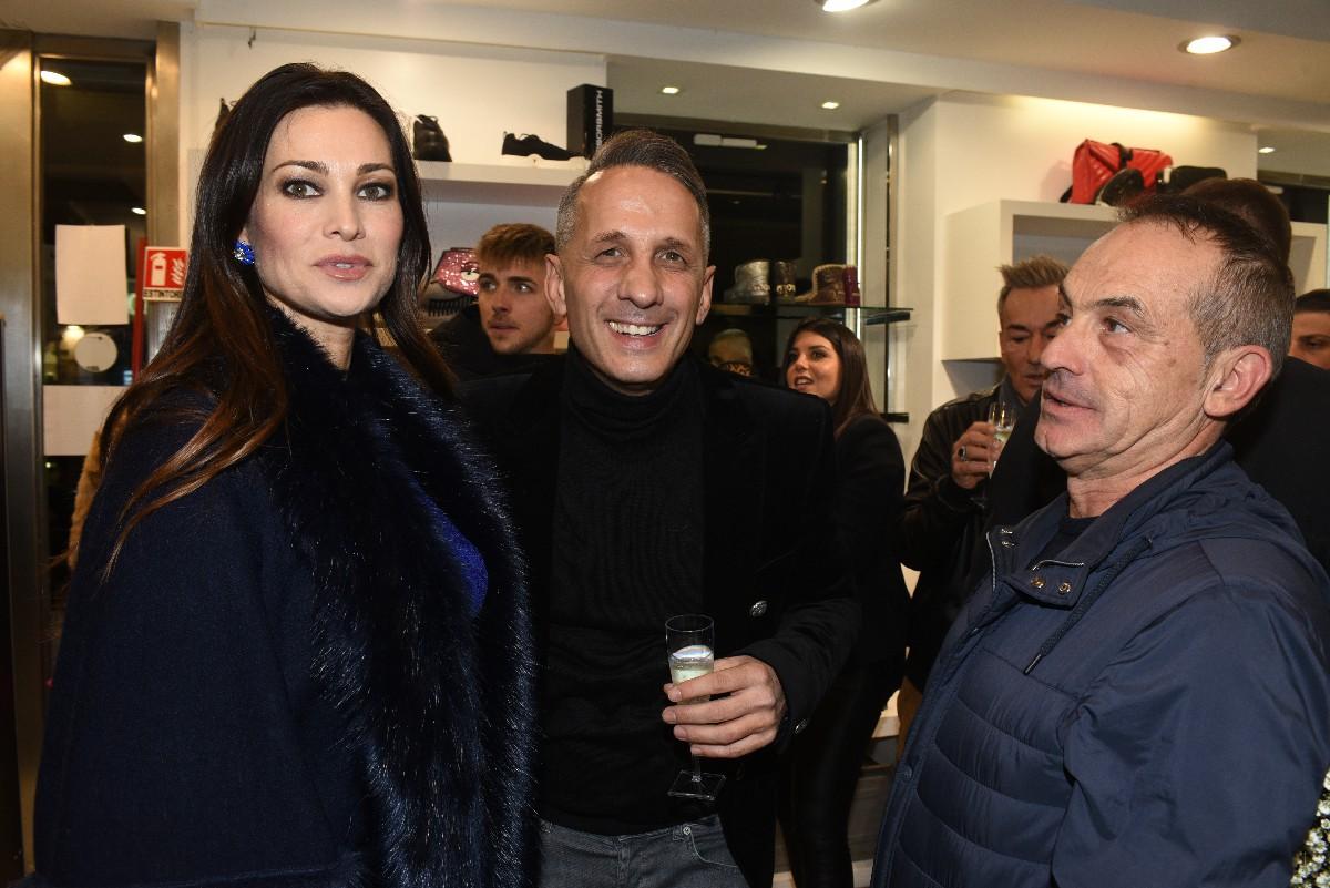 Manuela Arcuri Antonio Giuliani Evento Mou negozio Walcor Vip fotografo eventi Roma
