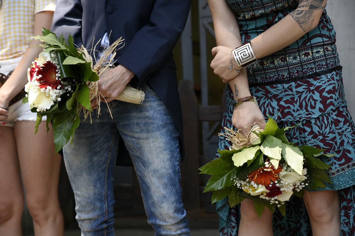 bouquet spose foto matrimonio gay Fotografo unione civile roma